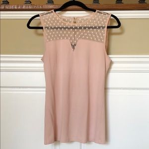 Ann Taylor light pink short sleeve shirt.